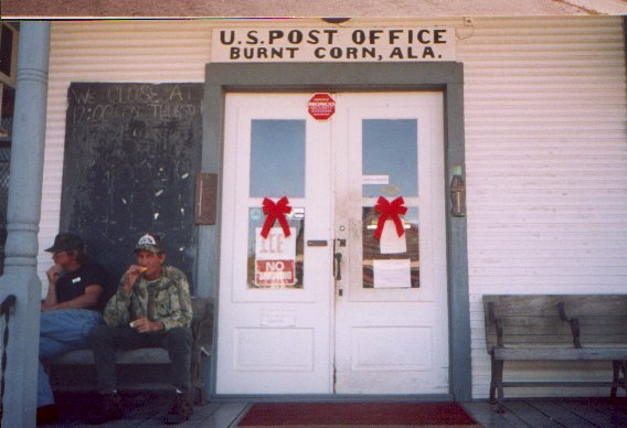 congress officially approved the postal route in burnt corn in 1818 the burnt corn post office was located in the burnt red home office